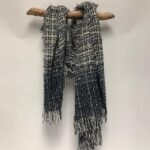 70284 super soft woven scarf navy multi