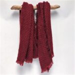 70288 texture woven scarf wine